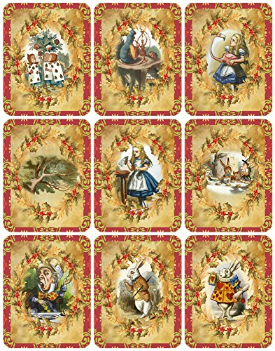 - Victorian Images Alice in Wonderland Vintage Christmas Graphics Collage Sheet, Digital Scrapbooking, Prints, ATC, Gift Tags 8.5 x 11