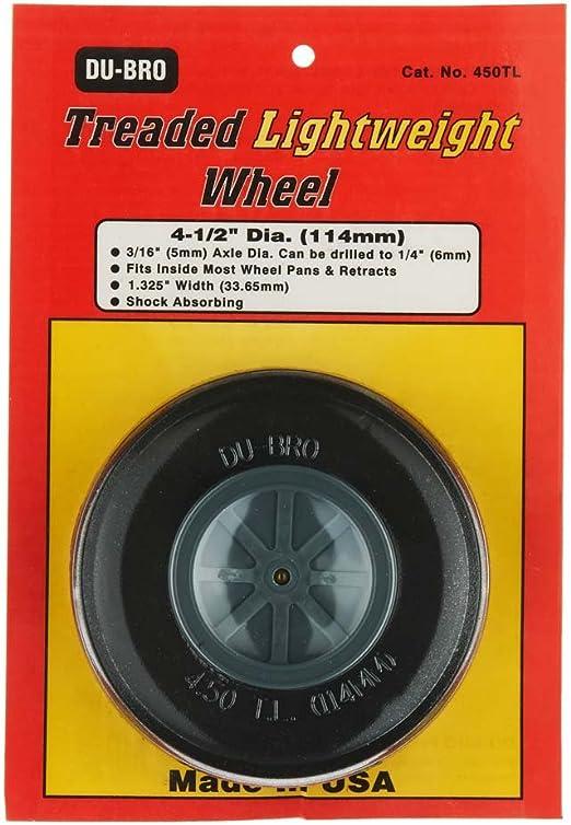 "Dubro Treaded Lightweight Wheels 4/"" Diameter  RC Airplane Du-Bro 400TL"