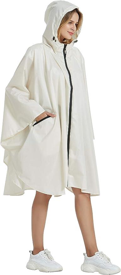 Stylish Hooded Women Raincoat Outdoor Long Poncho Waterproof Rain Coat Rainwear