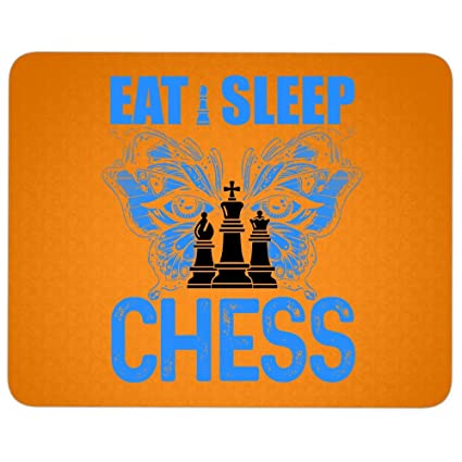 Amazon.com : Eat Sleep Chess Mouse Pad for Typist Office, I Play Chess Quality Comfortable Mouse Pad (Mouse Pad - Orange) : Office Products
