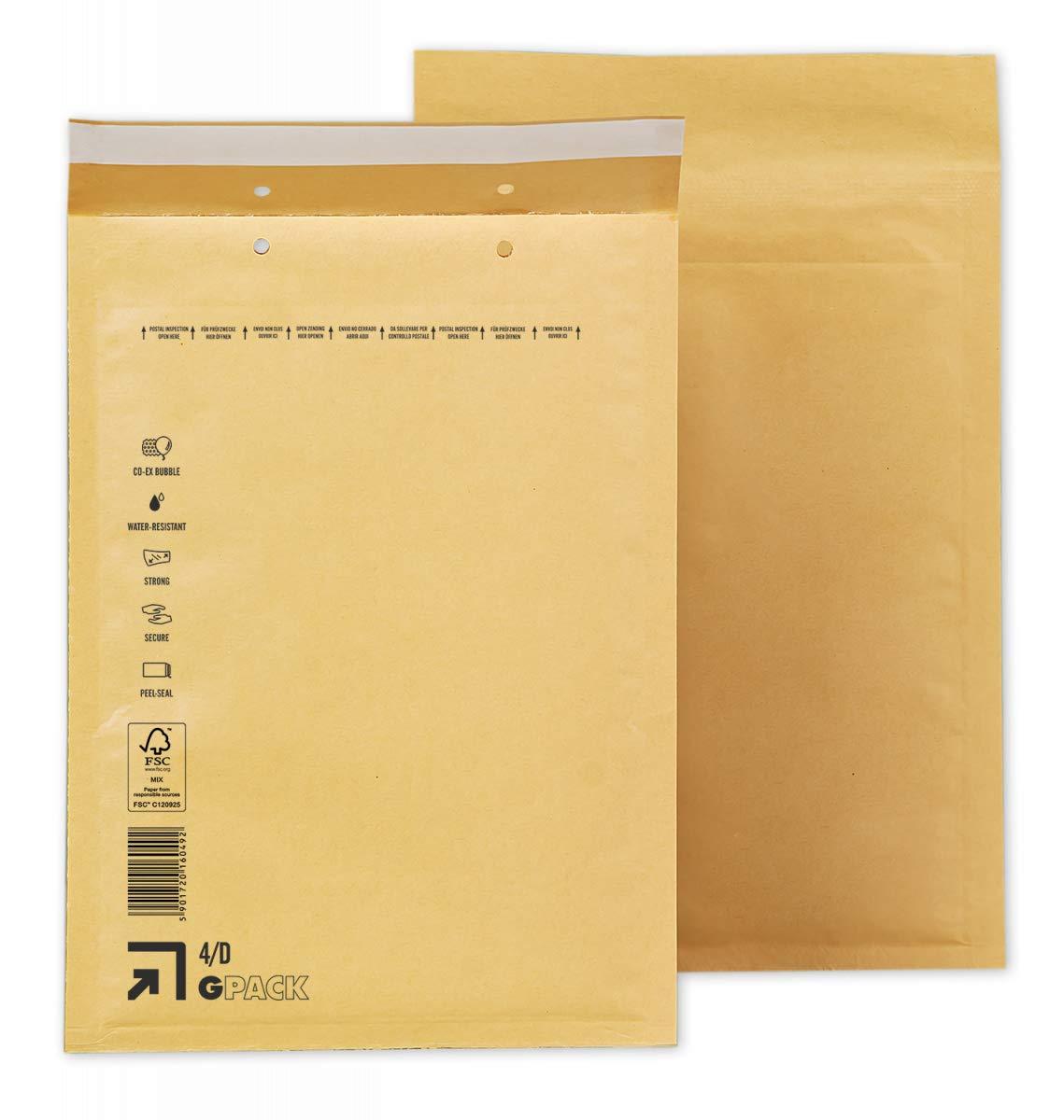Größe 14D Luftpolstertaschen 4 D 800 Luftpolster-Versandtaschen weiß