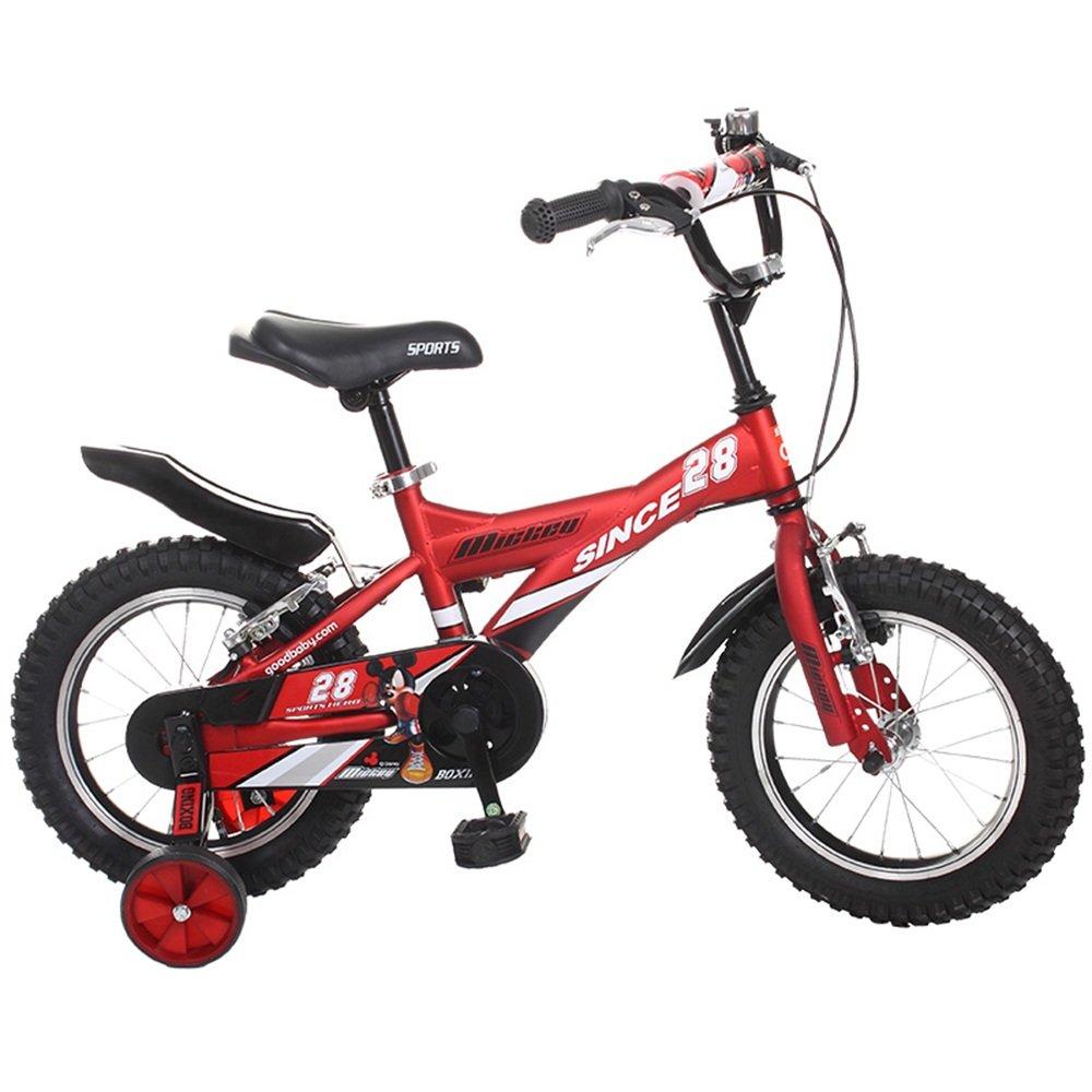 YANGFEI 子ども用自転車 ロイヤルベビーブルドーザーファットタイヤキッズバイク、18インチ、全地形の少年バイク、頑強な子供用、BURLYキッズバイクスタビライザー トレーニングホイールとキックスタンド 212歳 B07DWST6T9 16Inch