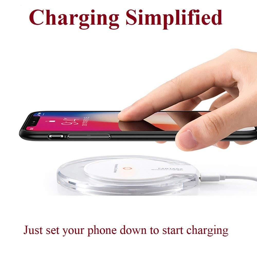 iPhone 8 Ultra Slim Qi Wireless Carga R/ápida S/úper Delgado para iPhone X Blanco Samsung Galaxy S8 iPhone 8 Plus Note 8 y Tel/éfonos Qi-Enabled ULTRICS Cargador Inal/ámbrico R/ápido