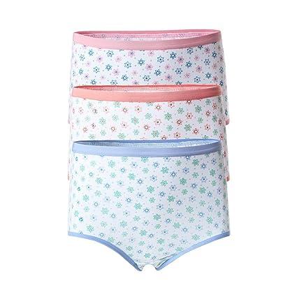WENJUN Ropa Interior Femenina De Algodón Peinado De Cintura Alta Estampado Pantalones Mamá Ropa Interior De