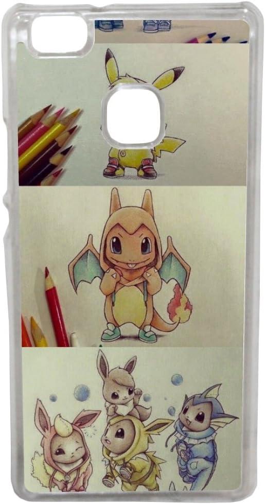 Huawei P8 Lite 2017 - Etui housse coque jeu Pokemon go geek pour ...