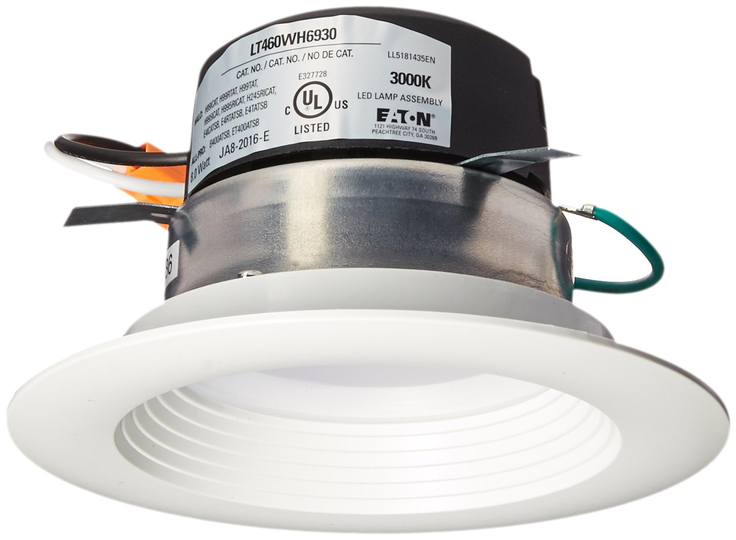 Halo LT460WH6930R LT4 All-Purpose Integrated LED Retrofit Recessed Trim (3000K), 4'', White by Halo