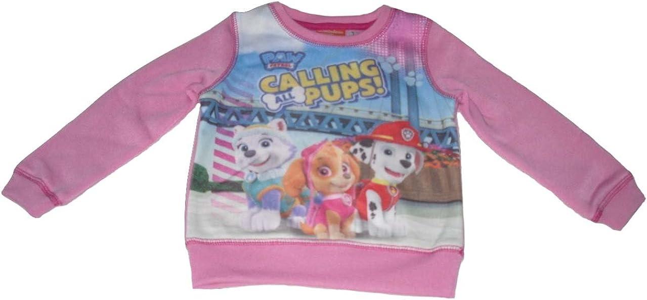 Paw Patrol Girls Jumper Sweatshirt 2-6 Years