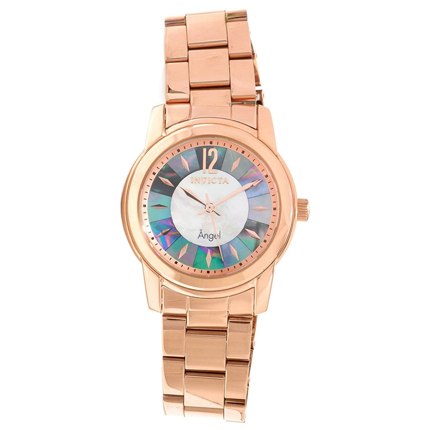 Invicta Angel Mother of Pearl Dial Rose Gold-tone Mens Watch 12631