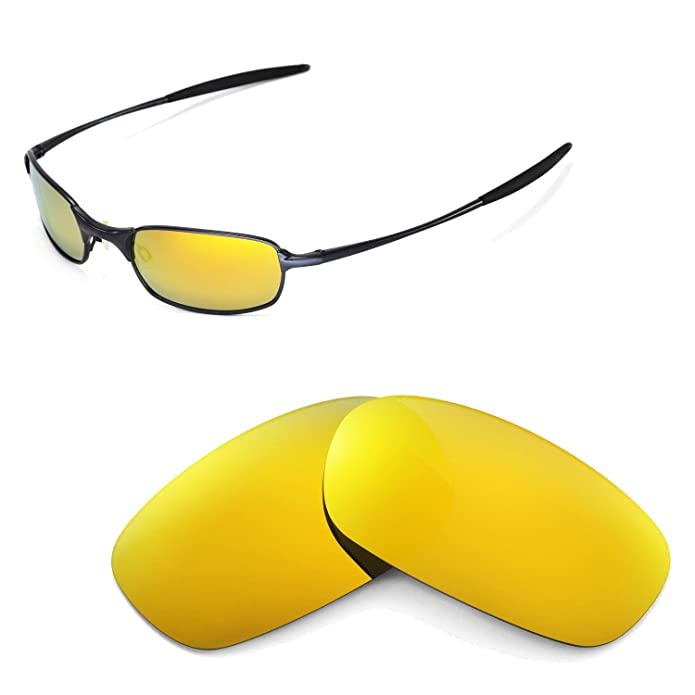 Amazon.com: Walleva 24K Gold Polarized Replacement Lenses for Oakley ...