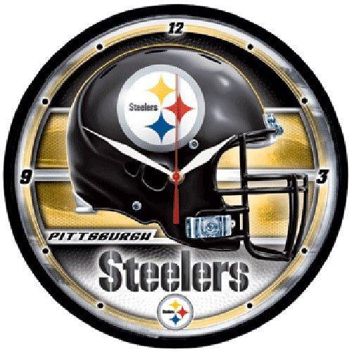 NFL Racks/Futons Round Clock at SteelerMania