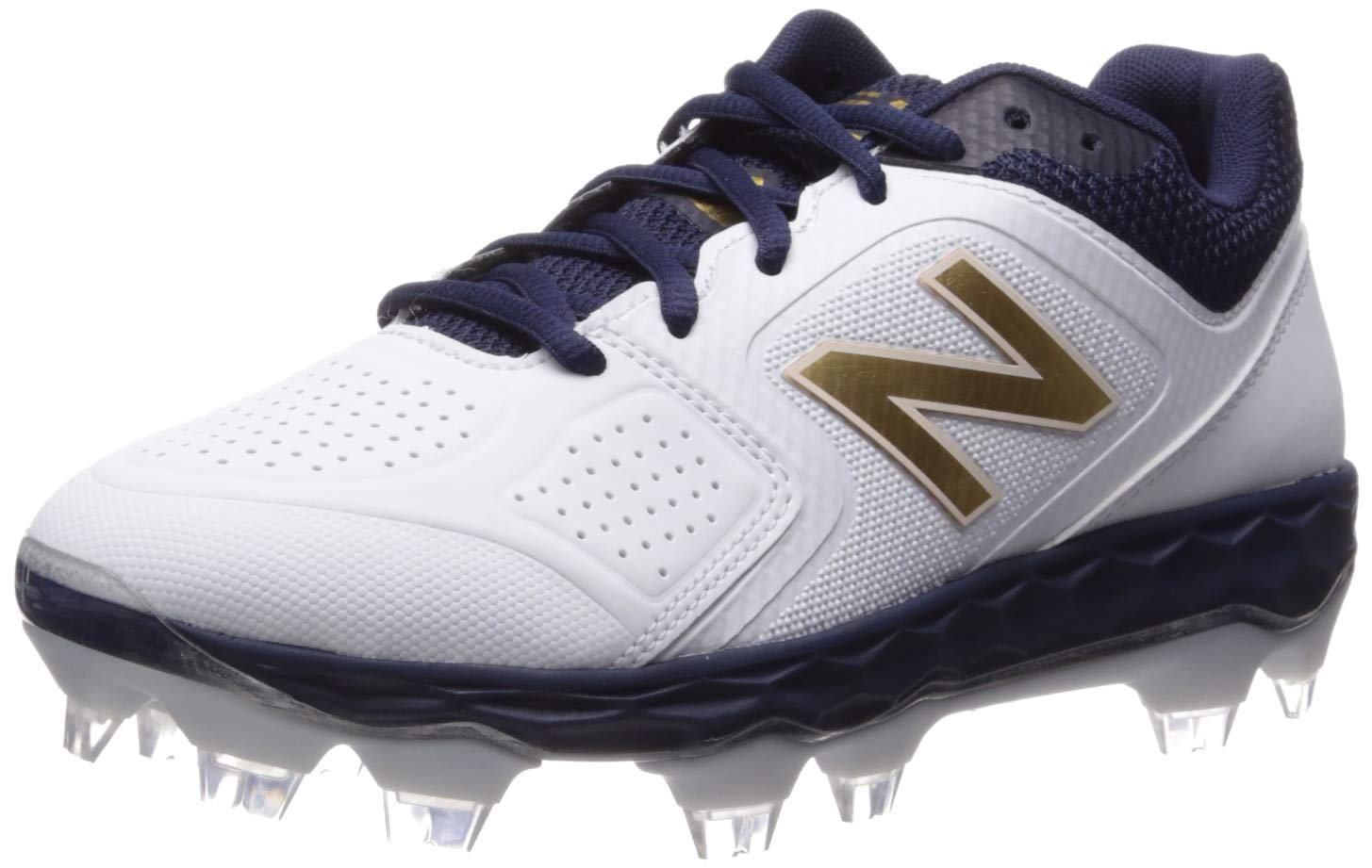 New Balance Women's Velo V1 Molded Baseball Shoe, Navy/White, 6 D US by New Balance