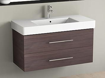 Aqua Bagno Bathroom Furniture 100 cm including Washbasin Centre ...