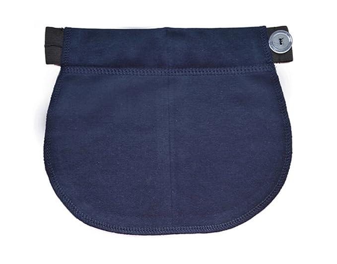 Maternidad Embarazo banda de cintura AJUSTABLE extensor elástico de cintura (Armada)