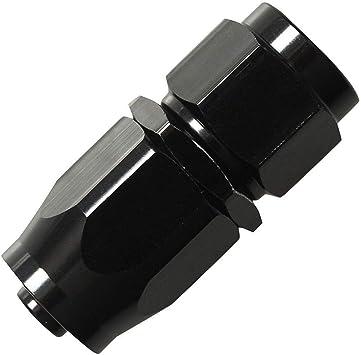 4//6//8//10//12-AN Straight 45//90//180 Degree Swivel Hose End Fitting//Adaptor Oil//Fuel Line Universal Black AN-12, 90 Degree, Black