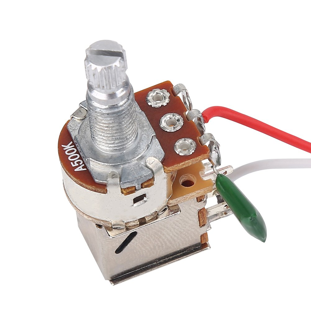 Guitar Harness Prewired Kit 3 Way Switch Tone Volume Included 1 X Wiring With 500k Pots For Strat 094 Base Sports Outdoors