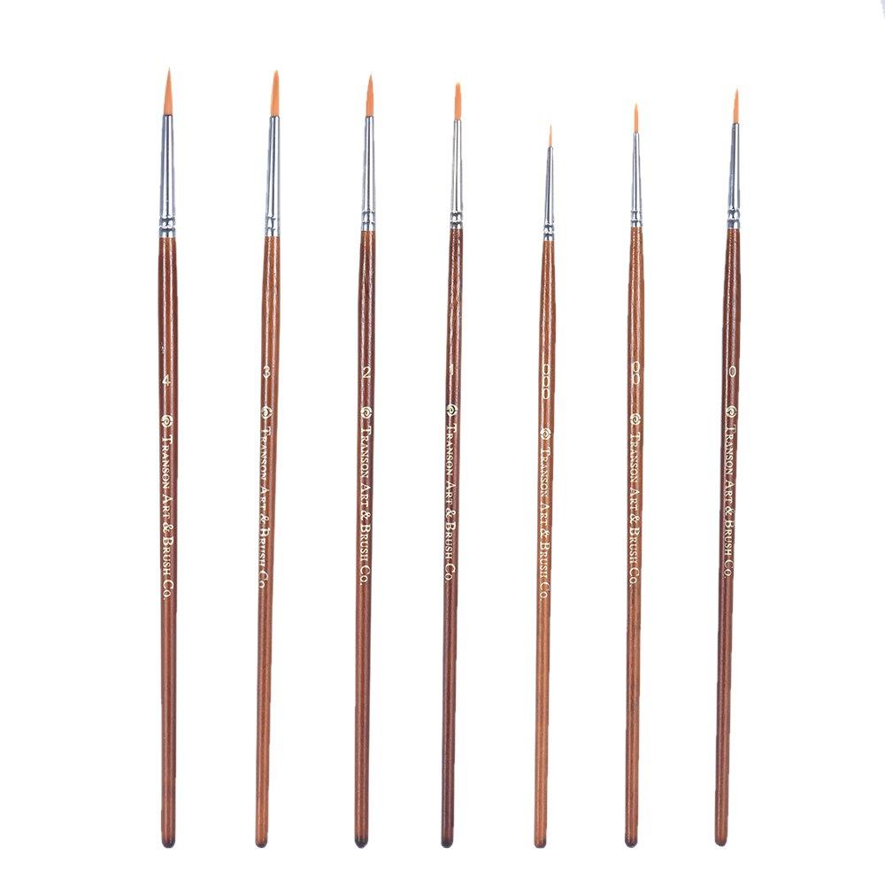 Aibecy Transon GR700 fine Dettaglio Pennello –  Set 7 Pezzi in Miniatura Pittura Pennello per Acquerello/Cartoon/Pittura acrilica
