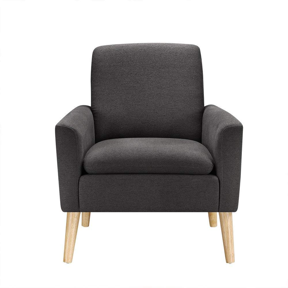 Really Feel Comfy With Black Living Room Furniture Amazon.com: Modern Accent Chair, Single Sofa Linen Fabric Armchair (Black),  Great for Living Room, Office, Studio, Apartment, or Guest Room by Bliss  Brands: ...