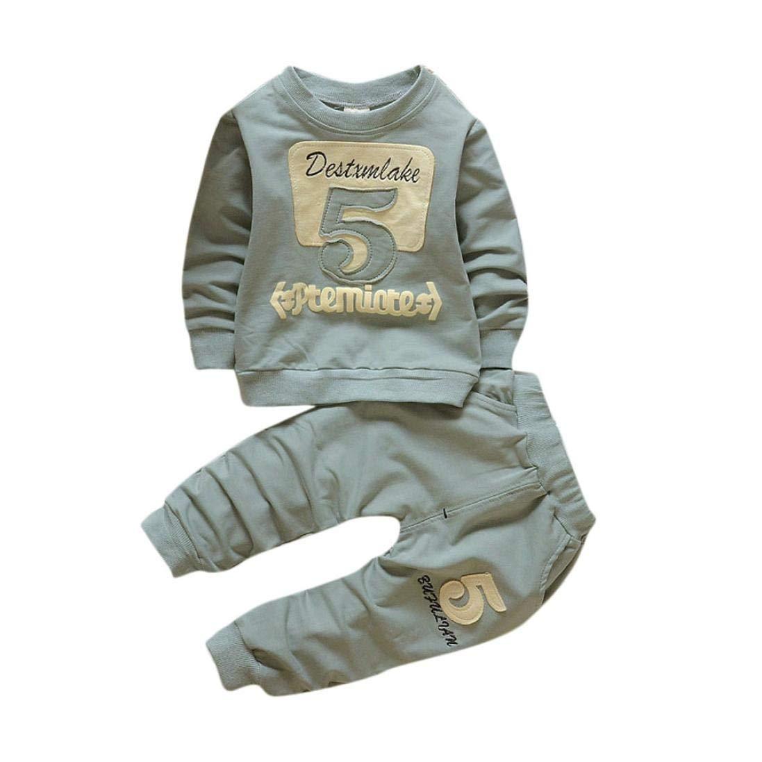 Bambini Abiti In Abbigliamento Ragazze Ragazzi Bambini Pullover E Pantaloni Bambino Bambini Cotone Stampa Manica Lunga Pullover + Pantaloni Lunghi Set Di Abbigliamento Morwind