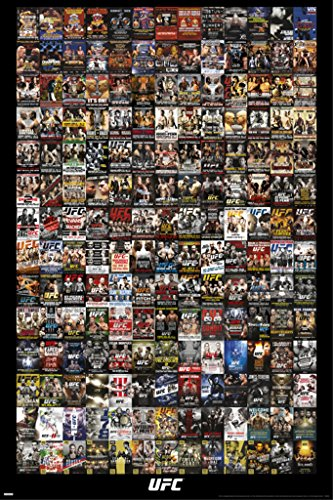 UFC Events Collage Sports Poster 24x36
