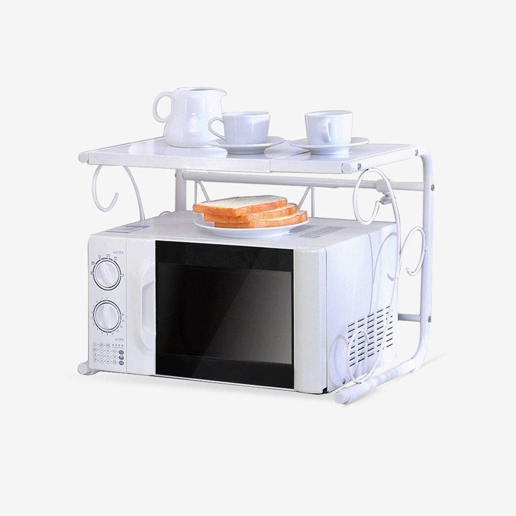 YCT 収納キャビネットを整理する、キッチン電子レンジ棚格納式棚現代のシンプルなキッチンオーブン棚金属収納棚 B07R7GLQV2