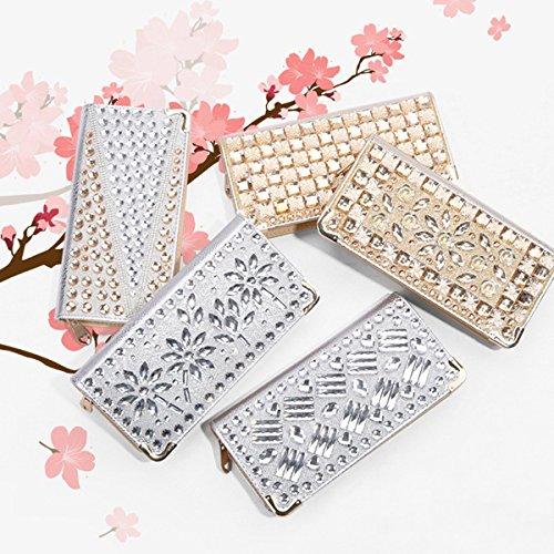 Las Mujeres Lentejuelas Tachonado Rhinestone Diseño Bolso De Noche Cartera Bolsa De Diamantes De Imitación 2