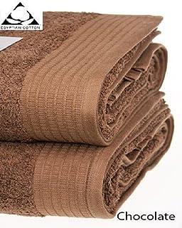 Pack of 2-Chocolate Gaveno Cavailia Egyptian Cotton Thick Absorbent 700 GSM Miami Jumbo Bath Sheet 100x180 cm