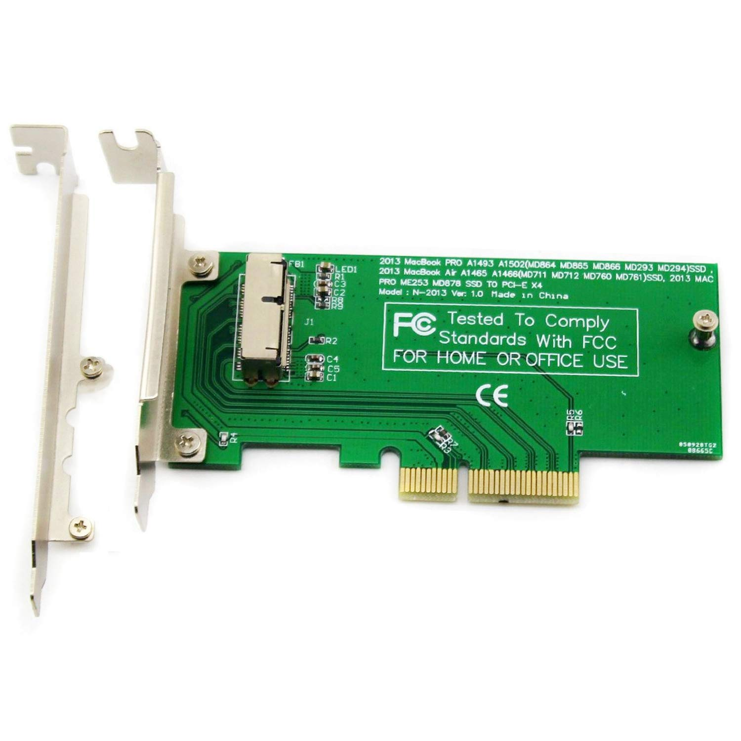 ELIATER PCIe SSD Adapter Card for 2013 2014 2015 2016 2017 MacBook Air Pro Retina, Hard Drive Controller Converter to Desktop PCI Express X4, Support Model A1465 A1466 A1398 A1502 by ELIATER