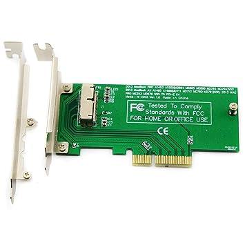 ELIATER - Tarjeta adaptadora PCIe SSD para MacBook Air Pro Retina ...