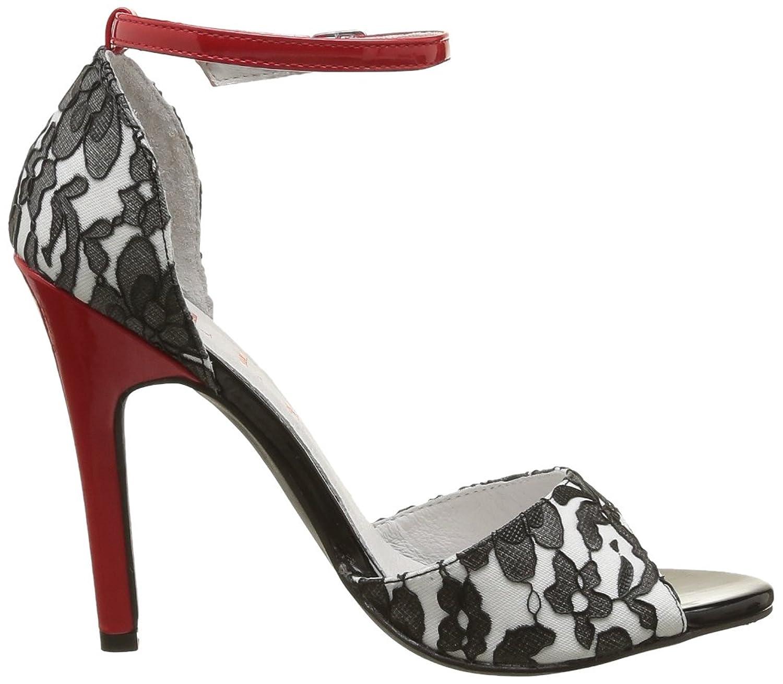Elle Lido 02085 - Zapatos de tacón para mujer, color negro, talla 37