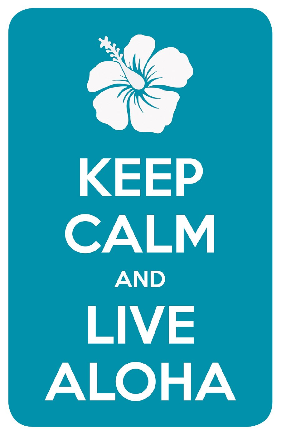 Car Window Bumper Sticker Inc. Pacifica Island Art Keep Calm and Live Aloha Hawaiian Art Decal