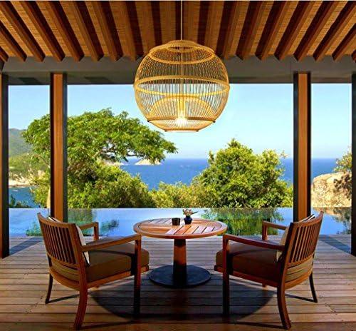 lampara techo Ball Restaurant lámpara colgante/dormitorio creativo estudio bambú lámpara/hotel tienda tienda lámpara: Amazon.es: Iluminación
