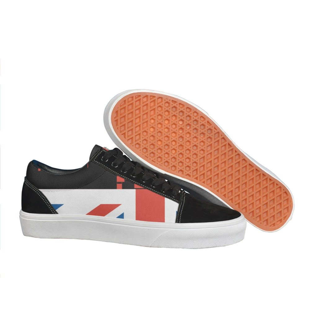 British Flag With London Cityscape man.men.sportsman Casual sneakers shoes Skateboard sports Fashion spring