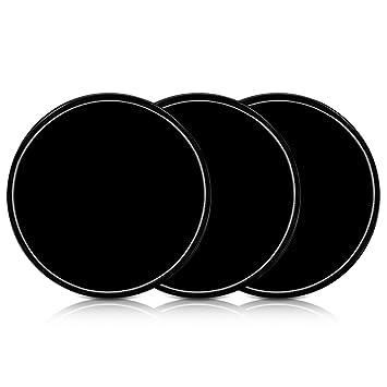 kwmobile Set 3 Almohadillas Autoadhesivas de Gel - 3X Almohadilla Antideslizante de Silicona Negra - Pads