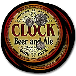 Clock Beer & Ale - 4 pack Drink Coasters