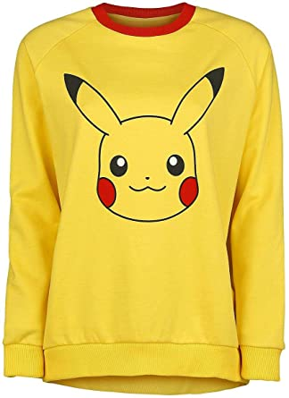 Pokemon Pikachu Sudadera mujer Amarillo M
