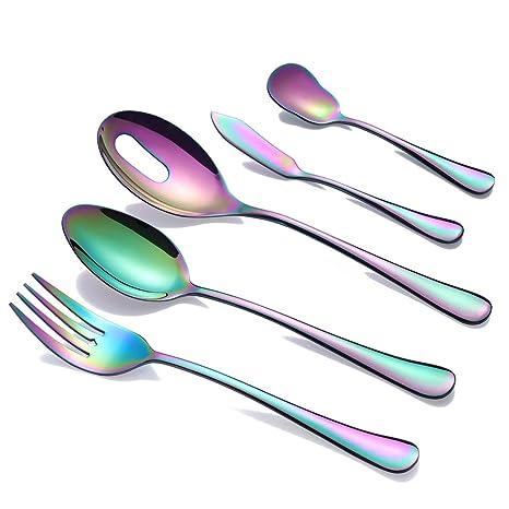 Amazon.com: OMGard Silverware Set de 20 utensilios de cocina ...