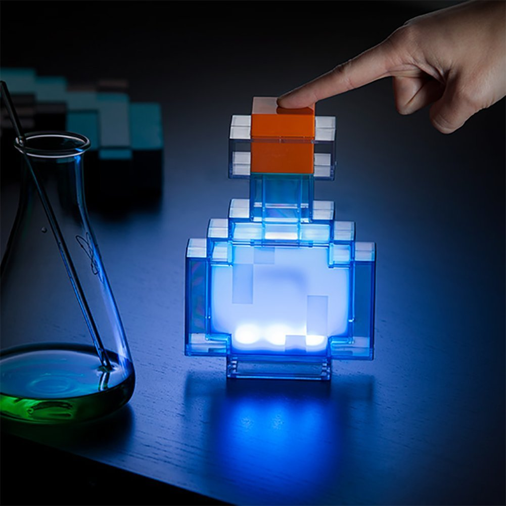 ThinkGeek Minecraft Color Changing Potion Bottle - Lights Up and Switches Between 8 Different Colors - Officially Licensed Minecraft Toys by ThinkGeek (Image #4)