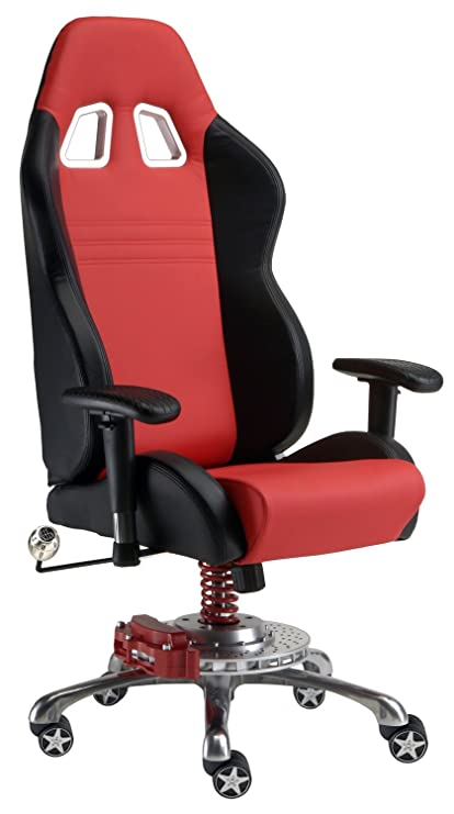 Amazon Com Pitstop Furniture Gp1000r Gt Office Chair Red Automotive