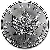 カナダ メイプルリーフ 5ドル シルバー コイン 1オンス 31.1グラム 純銀 銀貨 2017年製造 純銀 インゴット 高級アクリルカプセル・クリアーケース付き