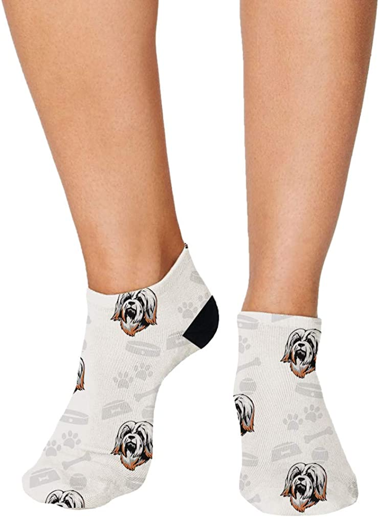 Havanese Dog Bone Bowl Collar Pattern Men-Women Adult Ankle Socks