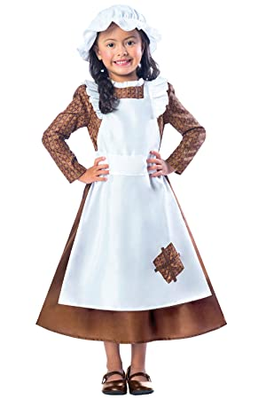 select for best cheap price quality first Victorian Girls Fancy Dress Poor Maid Book Day Week Kids Childrens Child  Costume