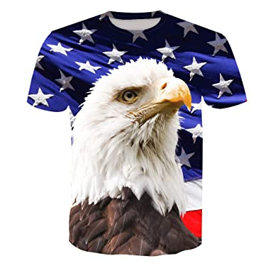 Camisetas de Running para Hombre Summer American Eagle Camiseta de ...