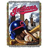 """The Northwest Company MLB Cleveland Indians Home Field Advantage Woven Tapestry Throw, 48"""" x 60"""""""