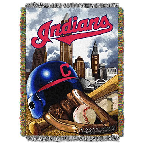 The Northwest Company MLB Cleveland Indians Home Field Advantage Woven Tapestry Throw, 48
