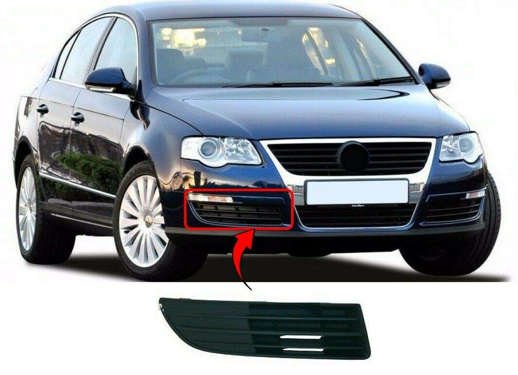Trade Vehicle Parts VK1983 Driver Side Front Bumper Fog Grille Without Fog Hole/ Compatible With Passat 2005-2010