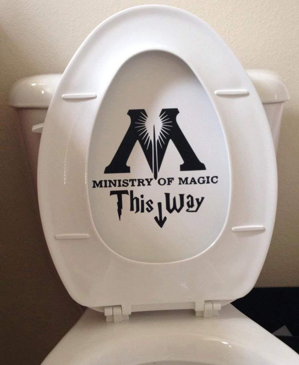 Ministry of Magic Toilet Harry Potter Decal Sticker Vinyl Die Cut Decal Sticker for Toilet Decoration