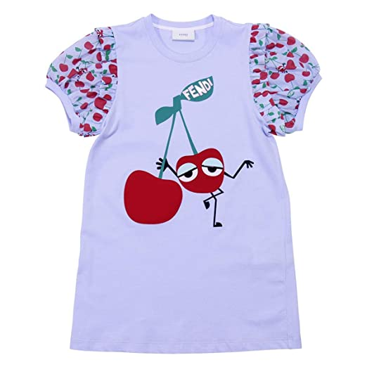 Amazon.com  Fendi Kids Womens Cherry Graphic T-Shirt w Cherry Sleeves  (Toddler)  Clothing 9567ca6cb7d