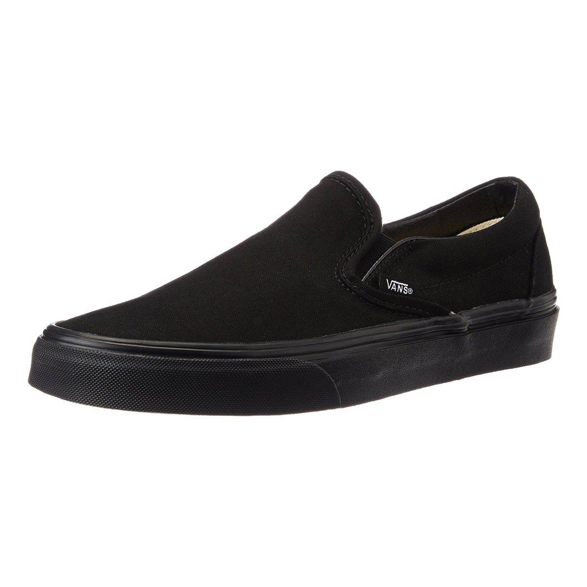 325137c25791 Amazon.com  Vans Unisex Classic Slip-On Black Black VN000EYEBKA  Shoes