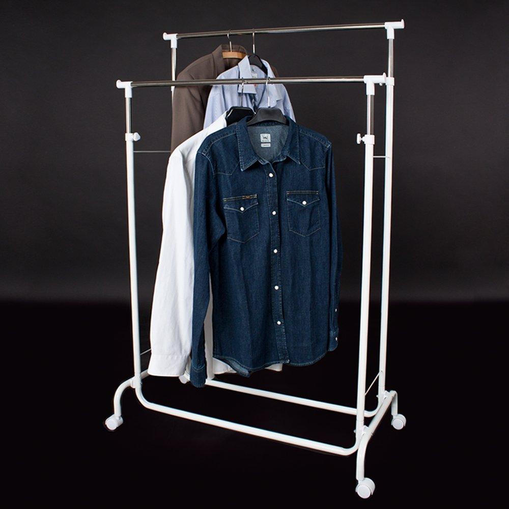 TecTake Perchero colgador percha doble ropa para con ruedas
