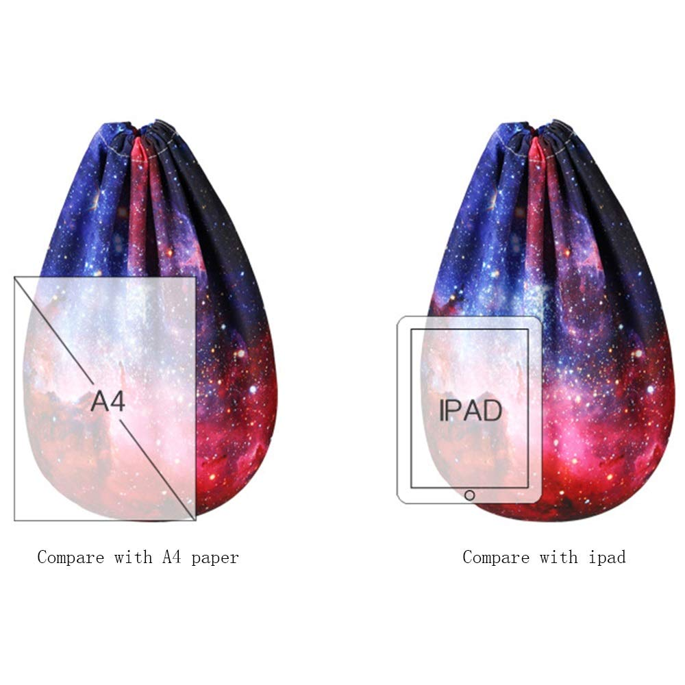 LJL Trendy Style Personality Star Pattern Backpack Drawstring Backpack Polyester Reduced Breathable Yoga Bag Unisex Backpack Bundle Pocket Suitable for Fitness Shopping Size 4436cm